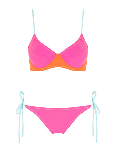 Hot Pink Underwired Bikini