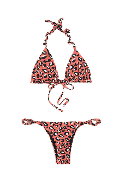 Terracotta Leo Thin Scrunchie Bikini