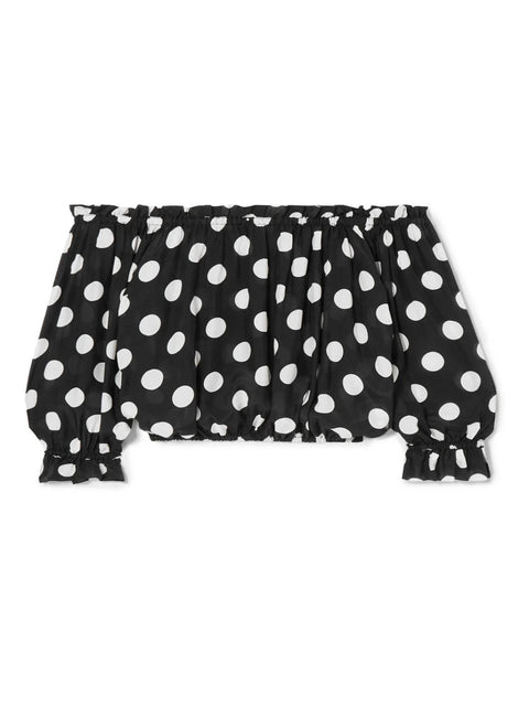 Black Polka Dot Kerry Top
