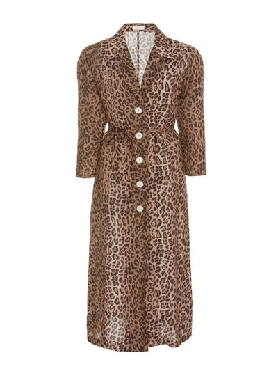Leopard Print Sienna Midi Dress