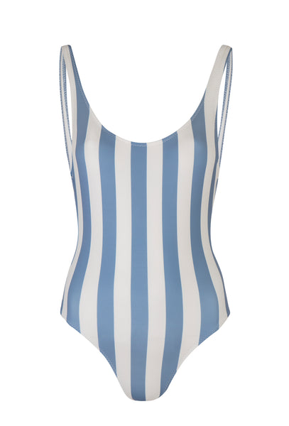 Blue Ice Stripe Anne Marie One Piece