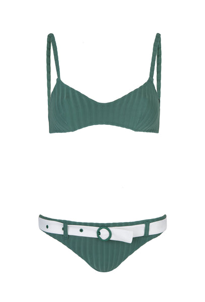 Emerald Green Ribbed Rachel Bikini
