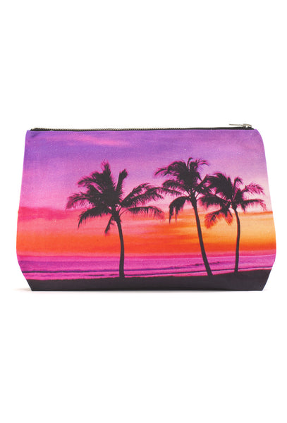 Three Palm Clutch Bag