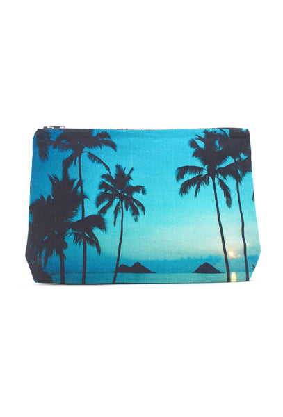 Mokulua Palm Print Clutch Bag
