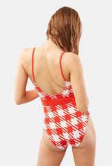 Red Nina Belted One Piece