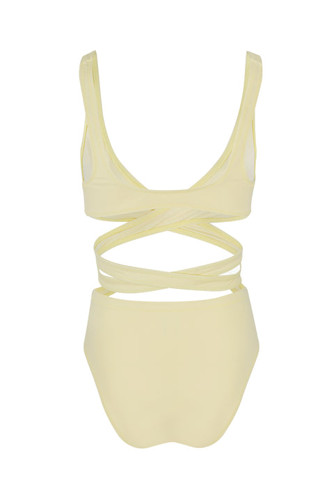 Pastel Yellow The Lauren Multiway Bikini
