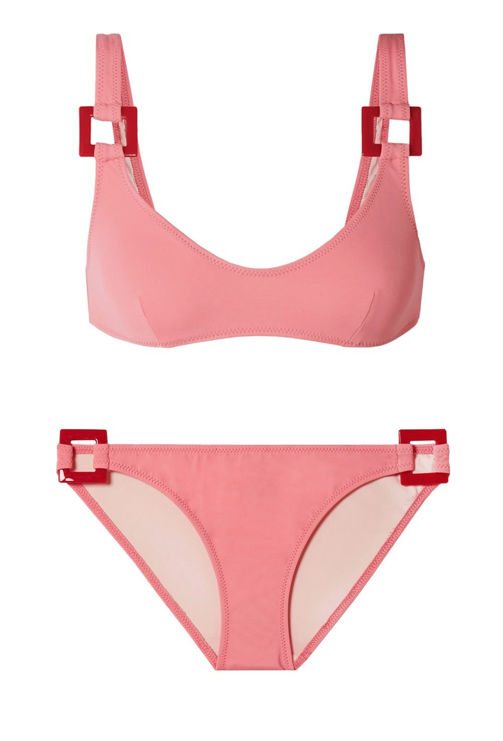 50b3c67850 Romy Pink Flamingo Bikini | Solid & Striped | Beach Flamingo –  BEACHFLAMINGO.COM