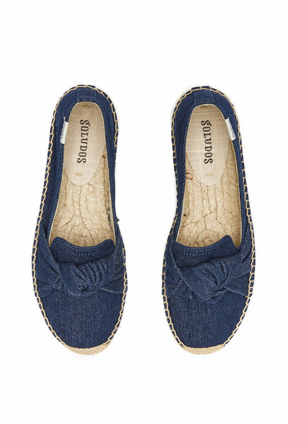 Blue Knotted Denim Espadrilles