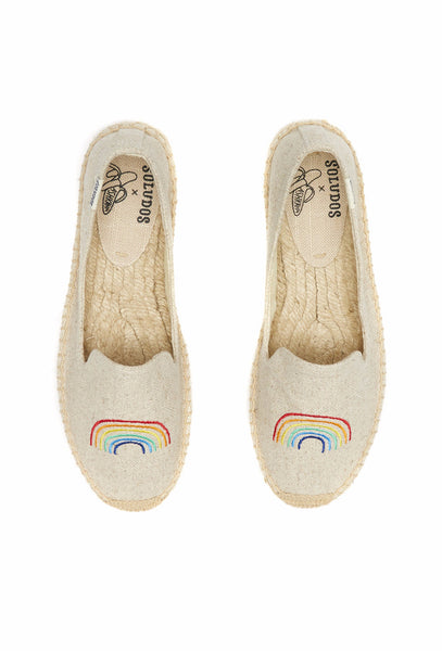 Rainbow Embroidered Canvas Espadrilles