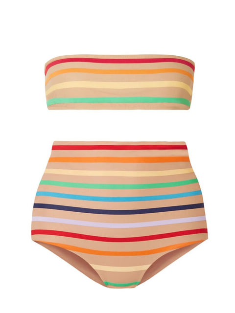 Nude Rainbow High Waisted Bikini