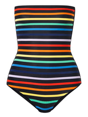 Rainbow Stripe Paraty Bandeau One Piece