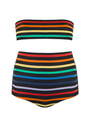 Black Rainbow High Waisted Bikini