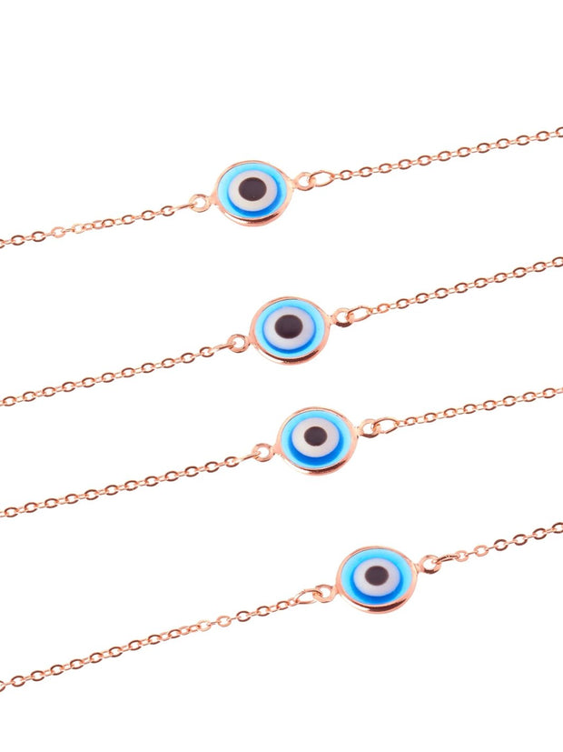 Navy Evil Eye Gold Sunglasses Chain