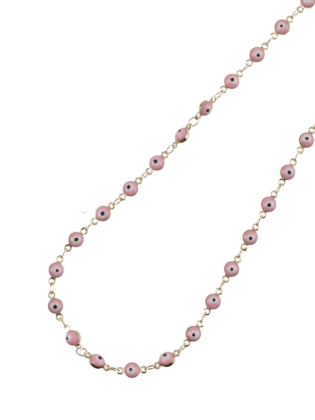 Pink Evil Eye Sunglasses Chain