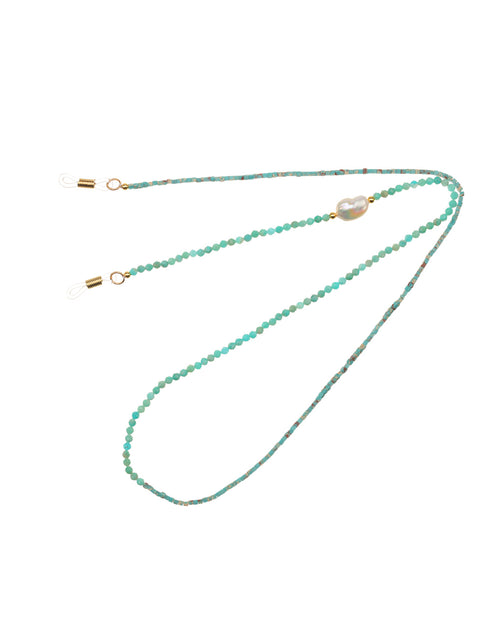 Turquoise Baroque Pearl Sunglasses Chain