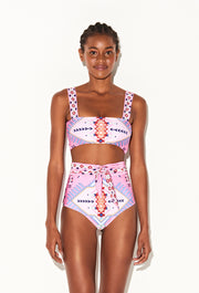 Pink Inca High Waisted Bikini