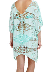 Spirit Dancer Aqua Lace Kaftan