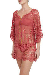 Rose Spearhead Broderie Anglaise Dress