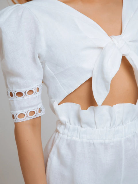 White Linen Jane Co-ord Set