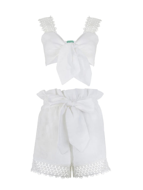 White Linen Tatiana Co-ord Set