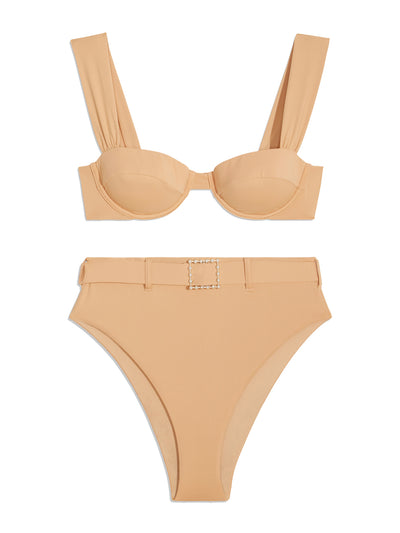 Maple Sugar High-Waisted Bikini