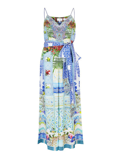 My Majorelle Wide Leg Silk Jumpsuit
