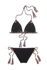 Black Crochet Triangle Bikini