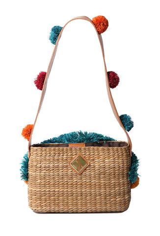 Maria Shoulder Bag with Pompoms