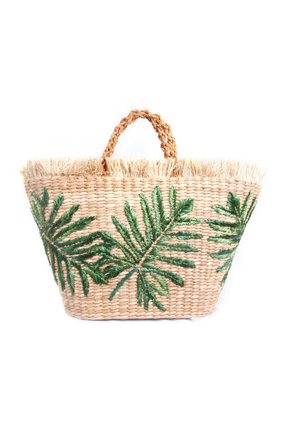 Green Palm Basket Bag