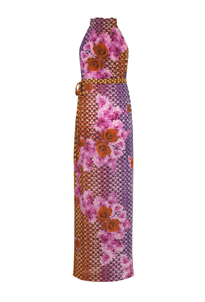 You Make My Heart Sink Rose Print Maxi Dress