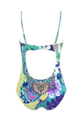 El Jardin Green Floral Moulded One Piece