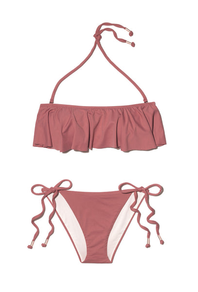 So Solid Tutu Rose bandeau bikini