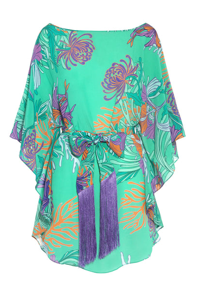 Green Romy Tunic in Sea Print