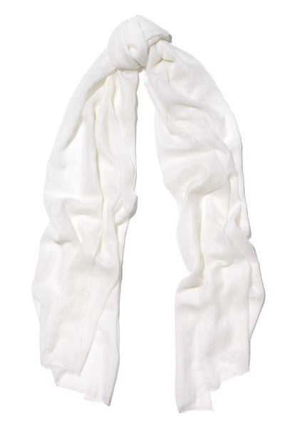 Cream Pure Cashmere Scarf