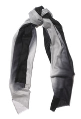 Black and Grey Cashmere Scarf