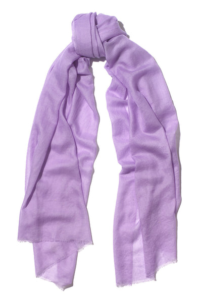 Lilac Pure Cashmere Scarf