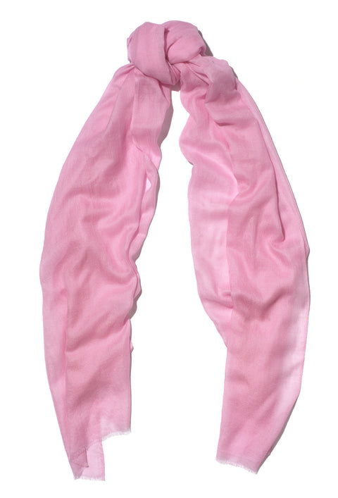Pink Pure Cashmere Scarf