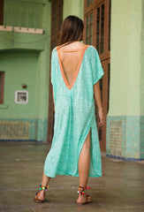 Mint Green V-Back Dress