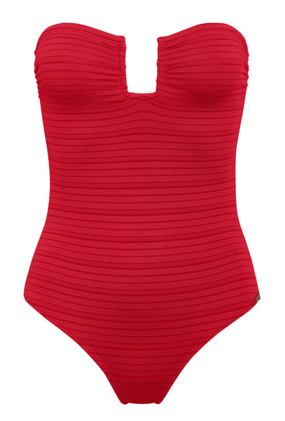 Forte Dei Marni Red Strapless One Piece