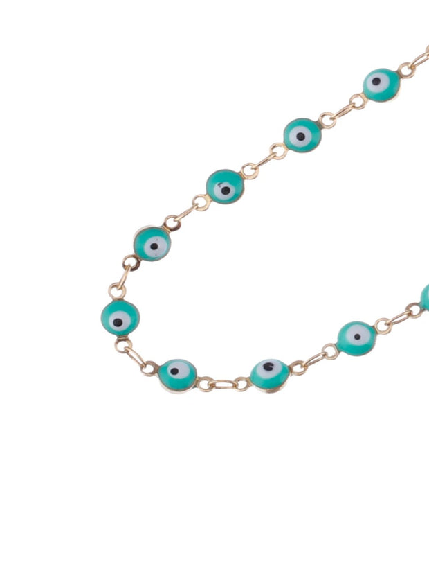 Mint Green Evil Eye Sunglasses Chain
