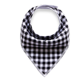 Black Check Bandana Bib