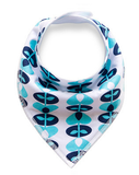 Blue Flowers Bandana Bib