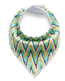 Green Yellow Blue Pattern Bandana Bib