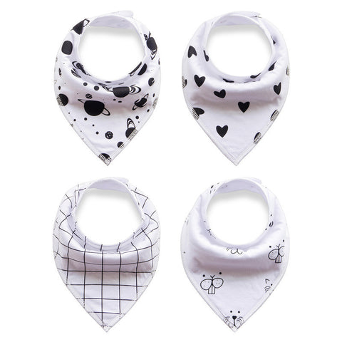 Kindly Kooky Collection - 4 Pack Bandana Bibs - BabaBibs