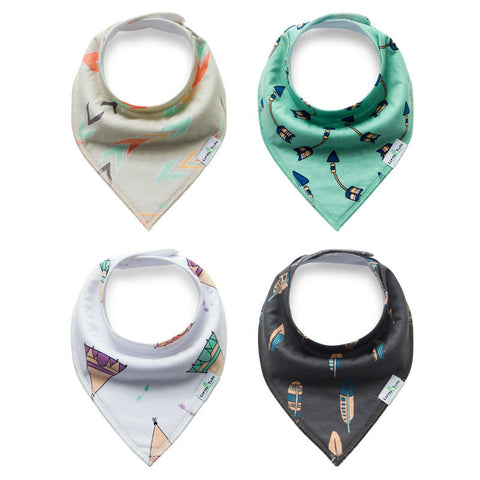 Totally Tribal Collection - 4 Pack Bandana Bibs