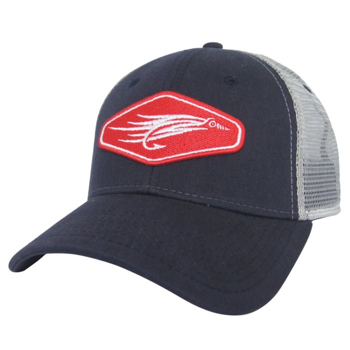AVID - Fly Fishing Trucker Hat - Navy - OffshoreApparel.com