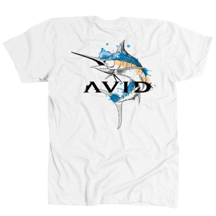 Avid - Marlin Watermark Tee - White - OffshoreApparel.com