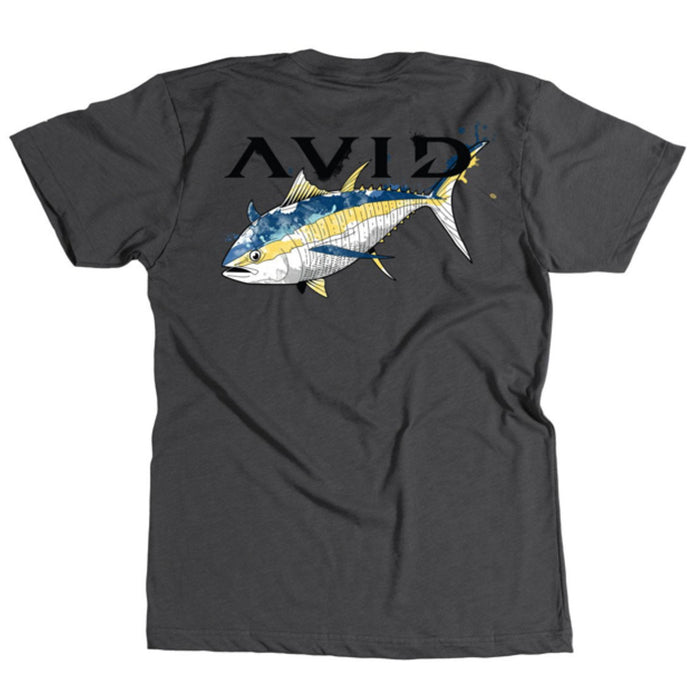 Avid - Tuna Watermark Tee - Heather Charcoal - OffshoreApparel.com