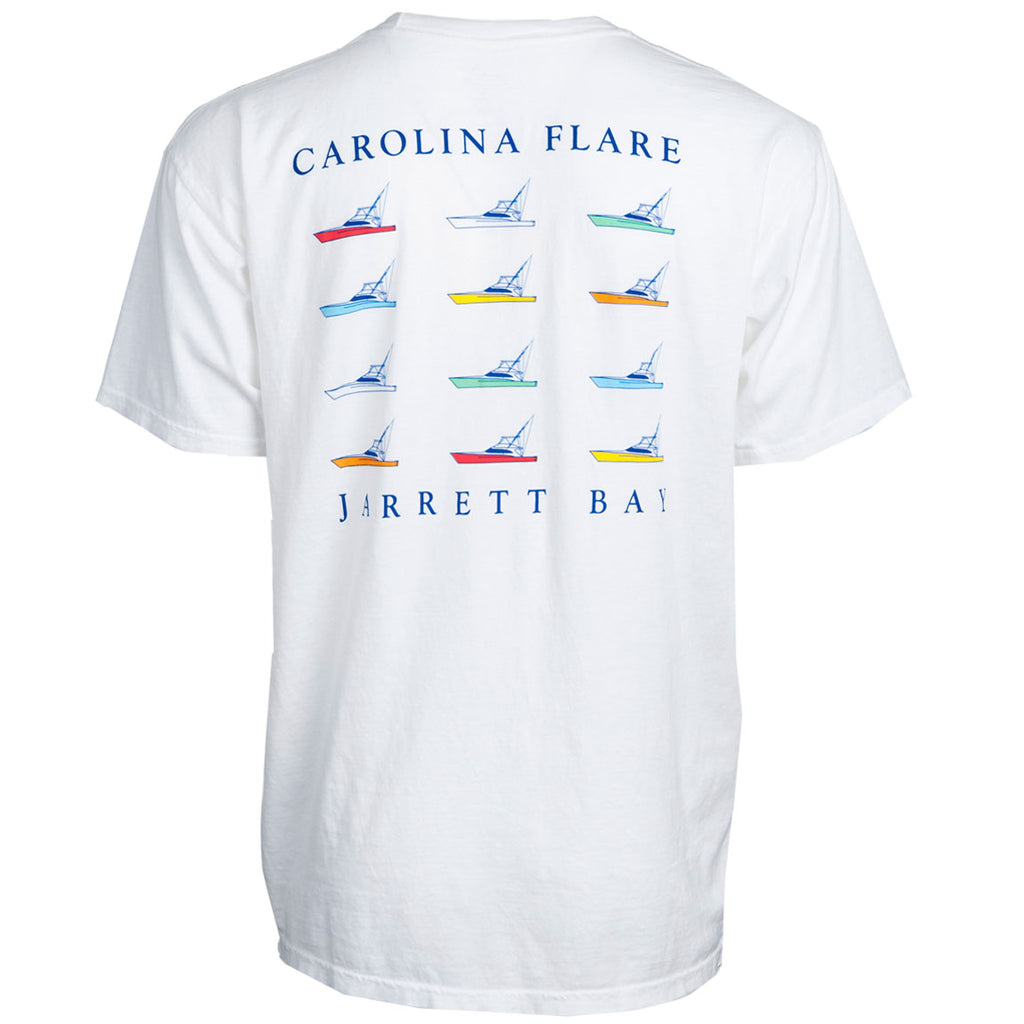 Jarrett Bay - Carolina Fleet Tee - White - OffshoreApparel.com