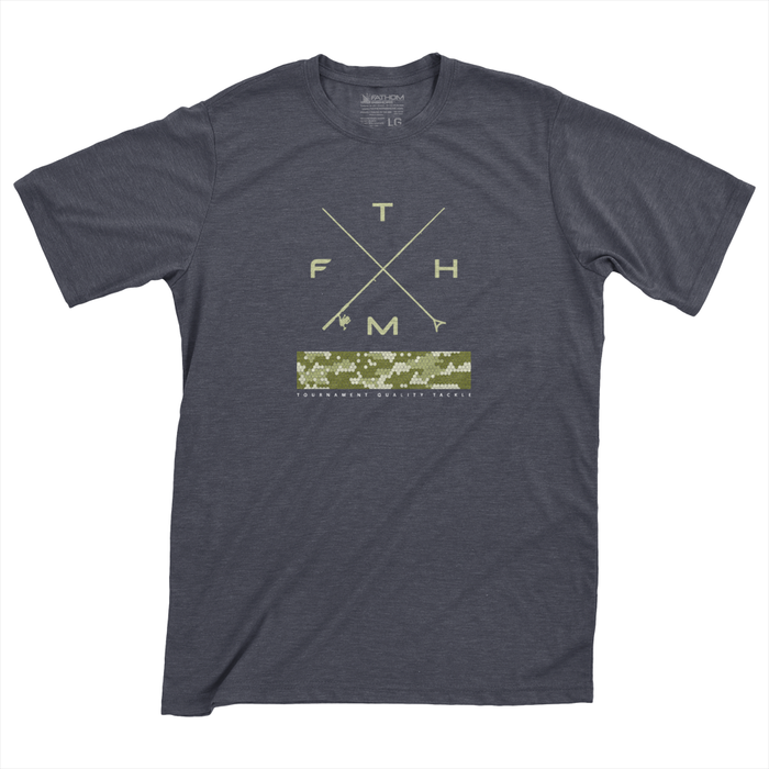 Fathom Offshore - Cross Up - Navy Heather - OffshoreApparel.com